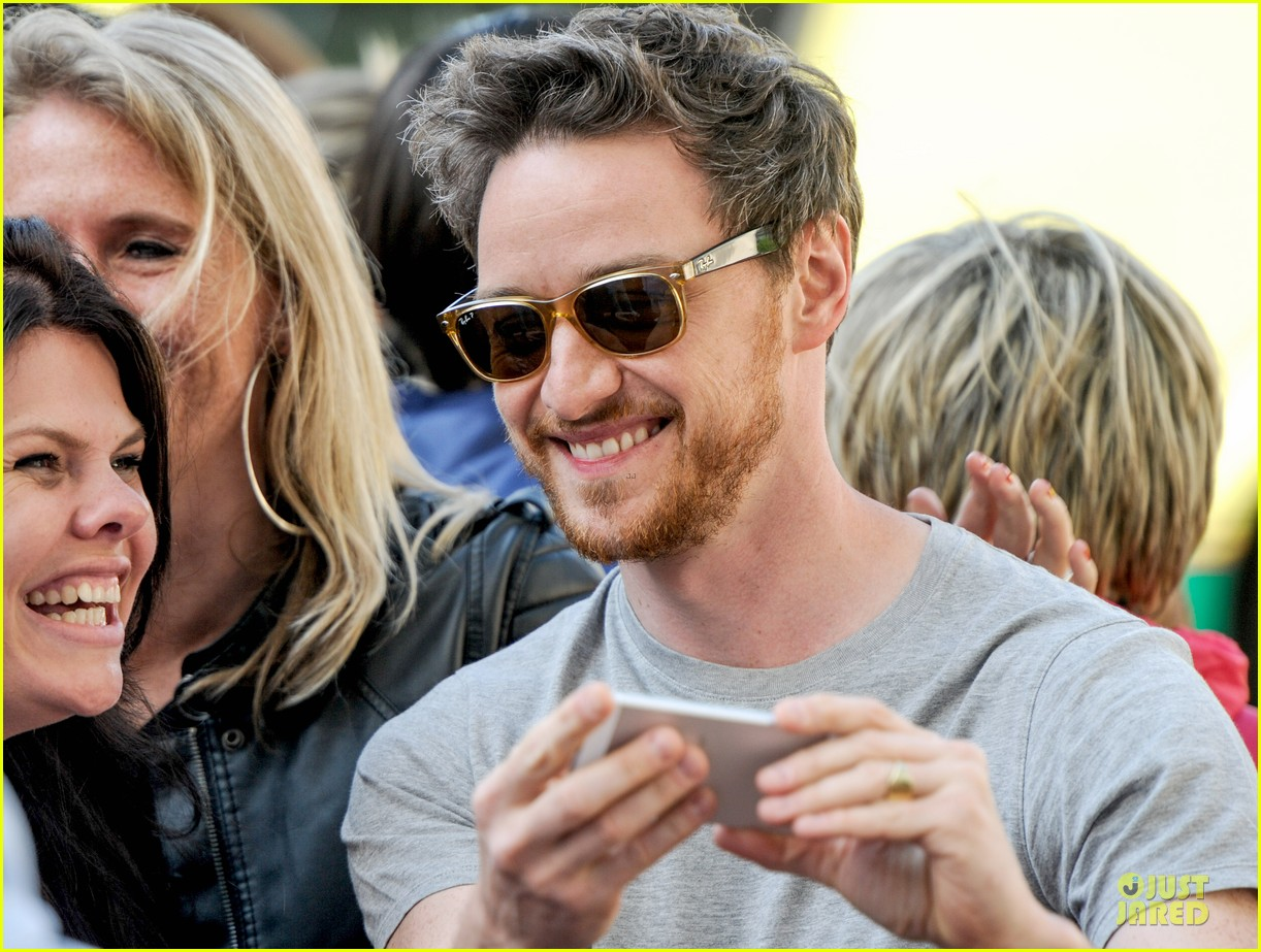 james mcavoy display athleticism at soccer aid 11