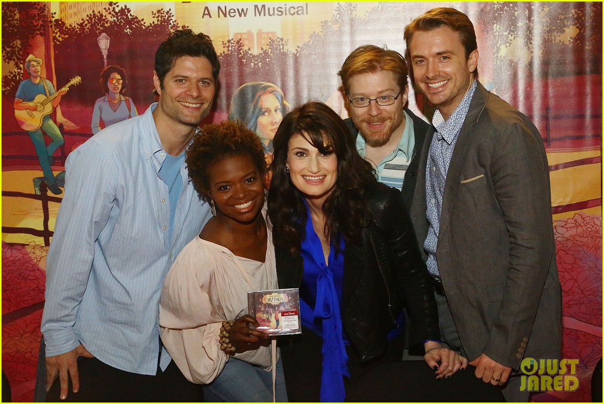 idina menzel debuts new bangs at if then cd signing 073134086