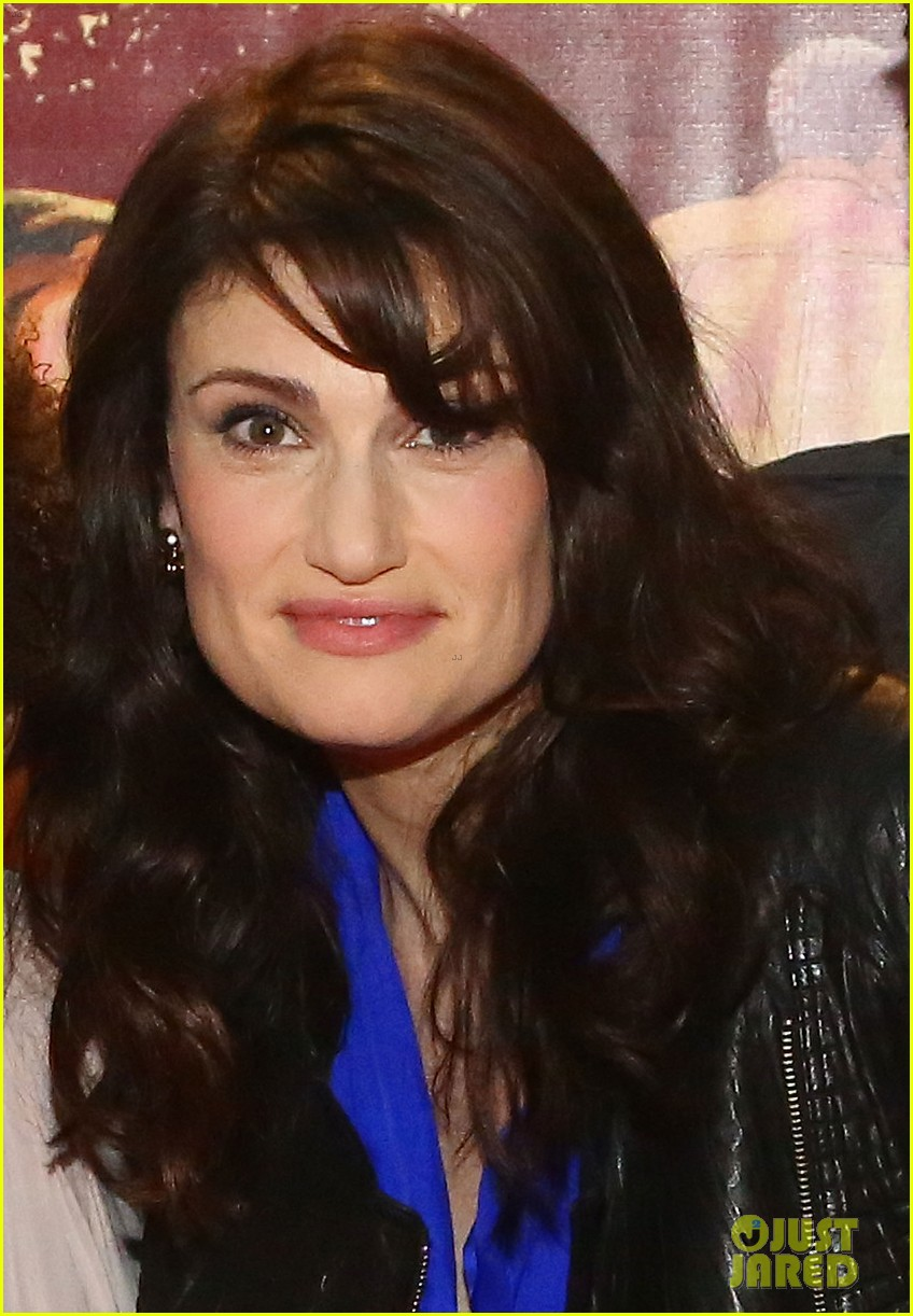 idina menzel debuts new bangs at if then cd signing 13