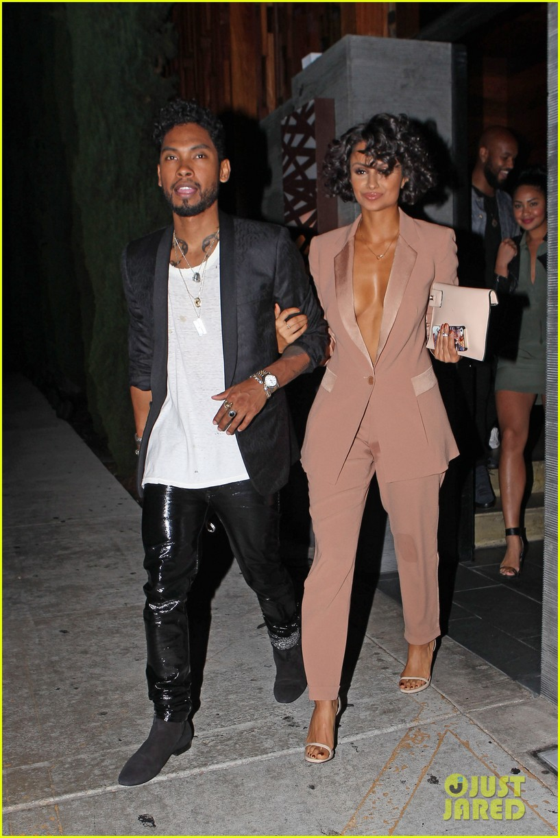 miguel girlfriend nazanin mandi stakes claim to his crotch 123147046