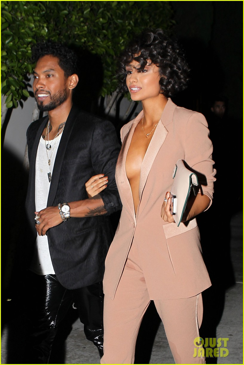 miguel girlfriend nazanin mandi stakes claim to his crotch 13