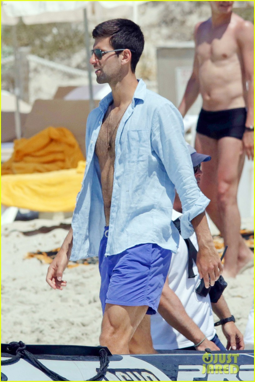 novak djokovic continues his bachelor party beach vacation 023135147