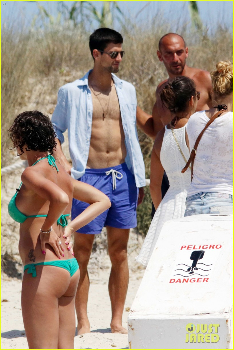 novak djokovic continues his bachelor party beach vacation 033135148
