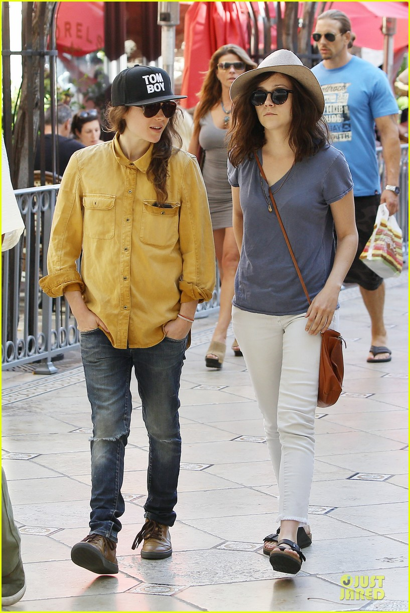 ellen page sunday shopping with close gal pal 07