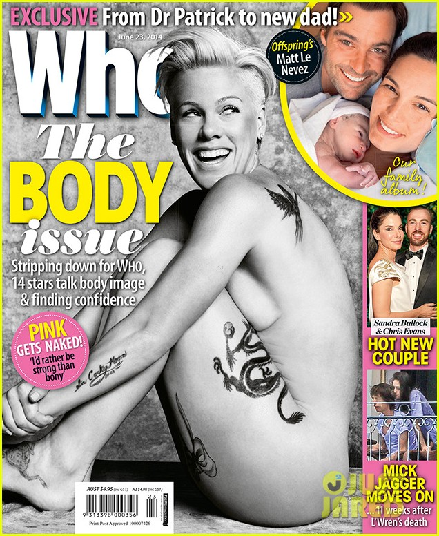 pink goes fully naked for who magazine 01