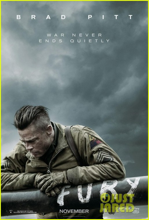 brad pitt looks war torn in new fury poster 01