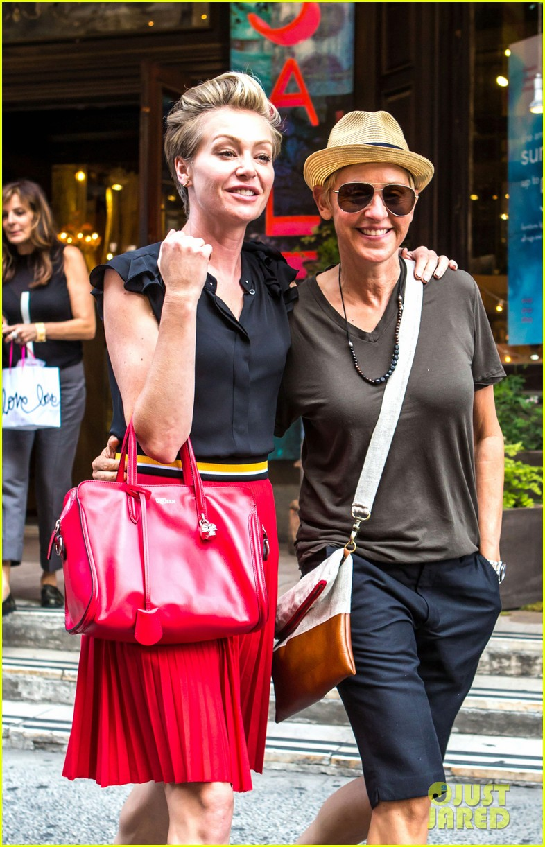 ellen degeneres portia de rossi hold hands tracy morgan 073140218