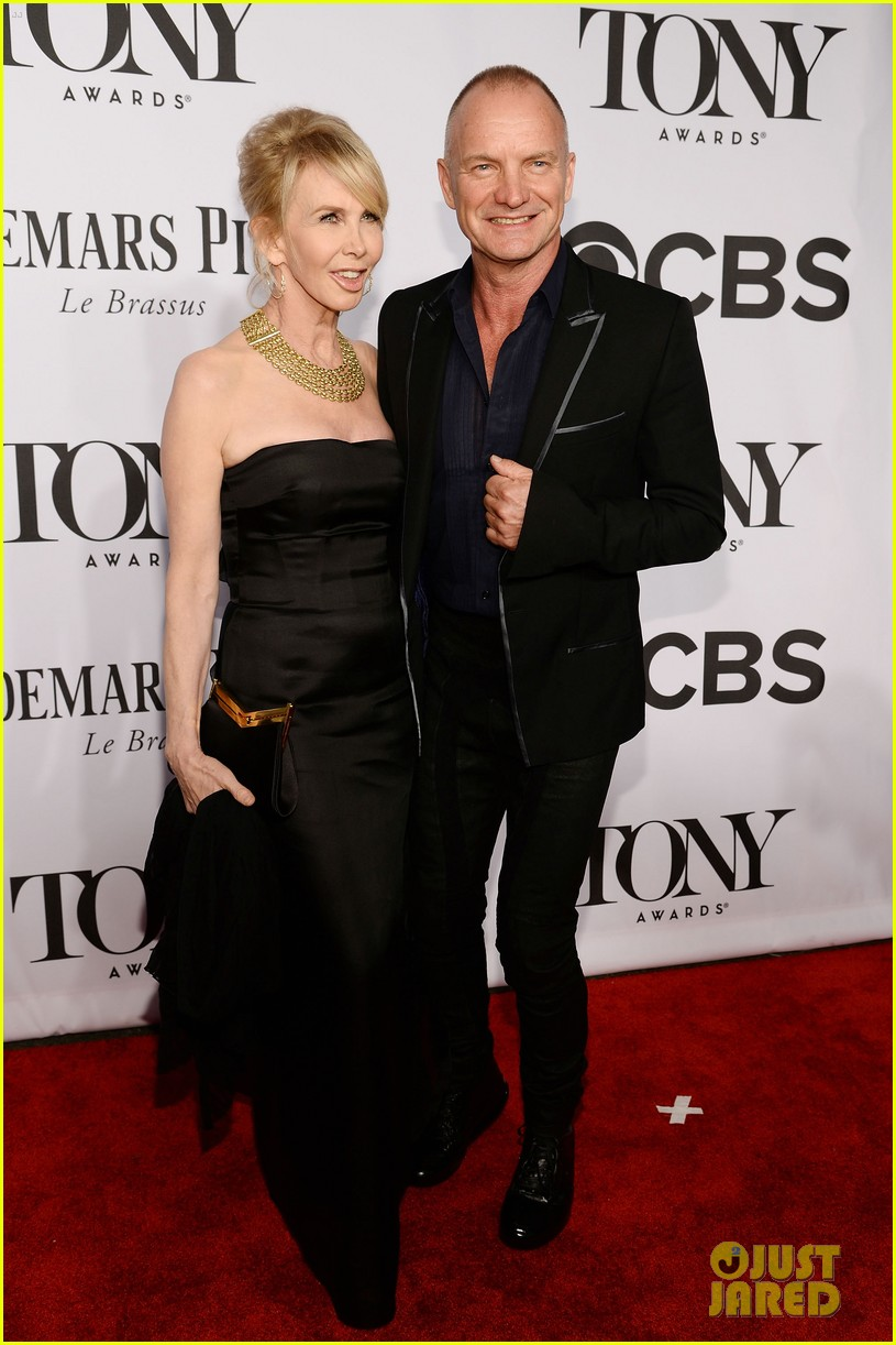 sting brings wife trudie styler to tony awards 2014 01