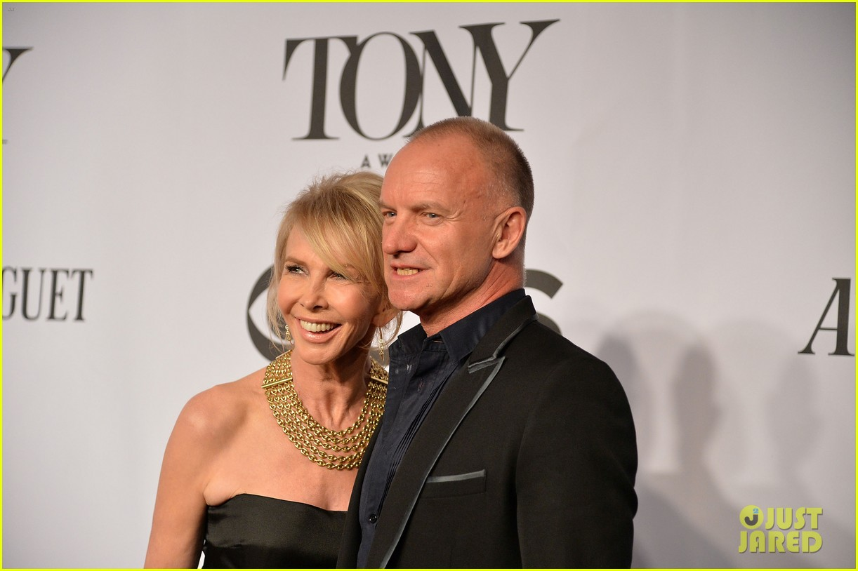 sting brings wife trudie styler to tony awards 2014 043131253