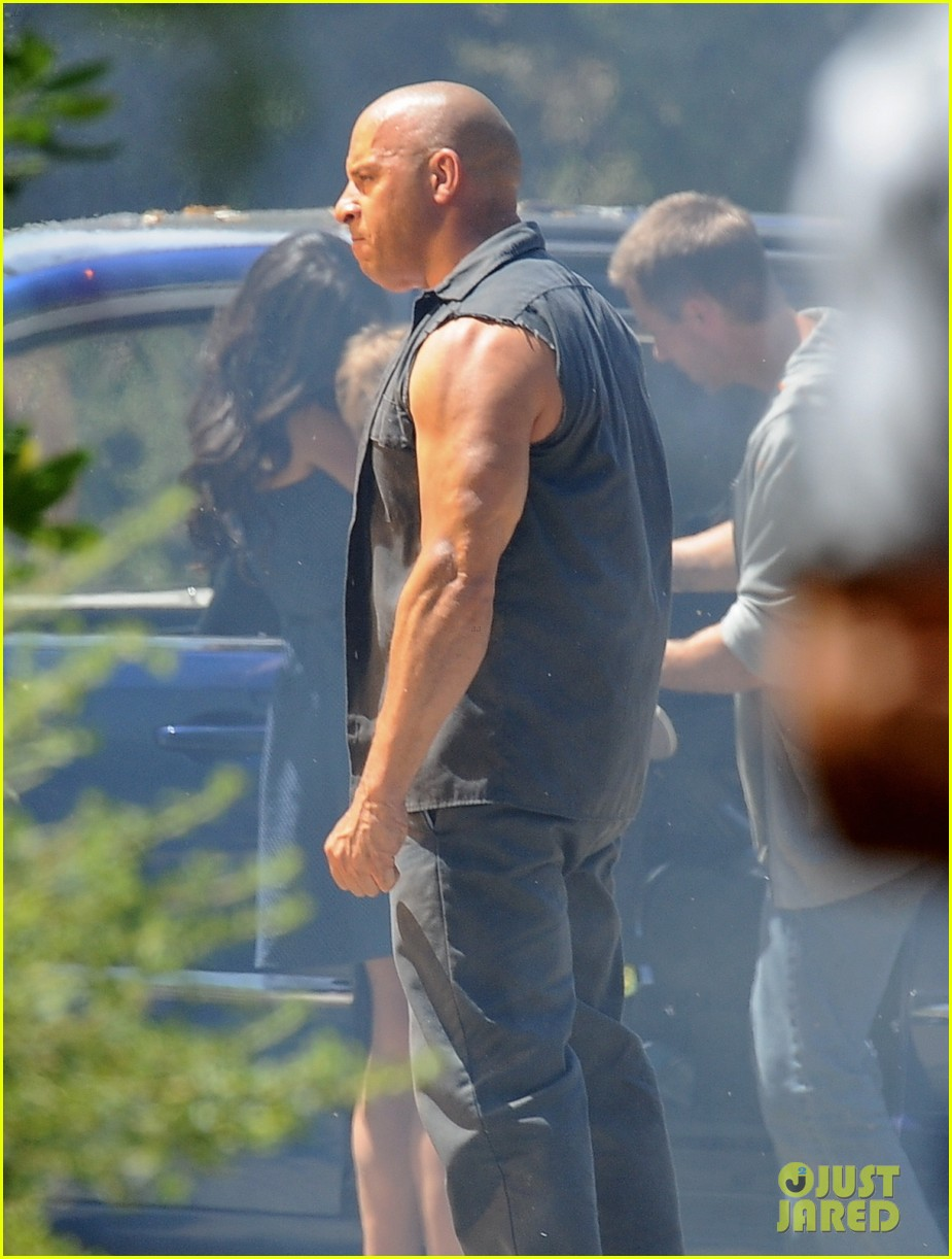vin diesel does some fiery stunt work for fast furious 7 10