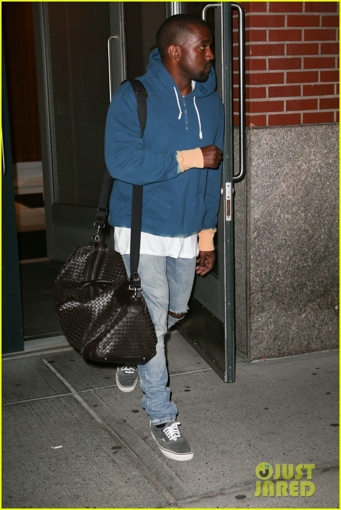 kanye west solo late night fathers day outing 033136426