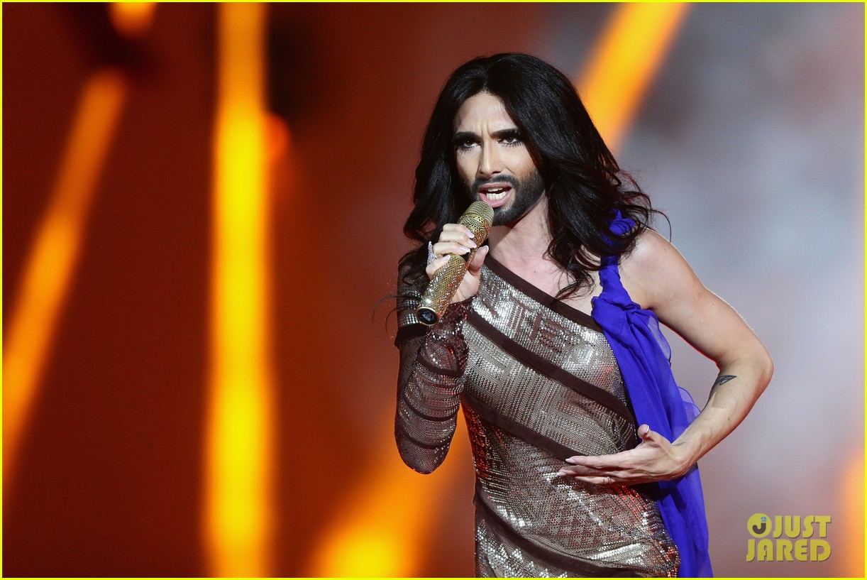 conchita wurst wears five glam looks over life ball weekend 02