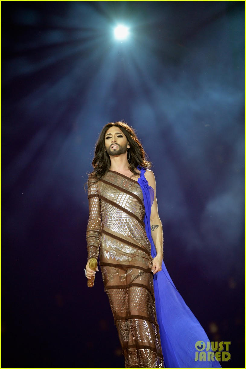 conchita wurst wears five glam looks over life ball weekend 123125645