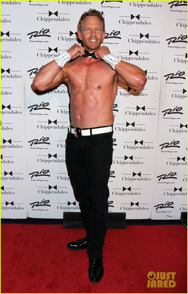 ian ziering shirtless chippendales 16