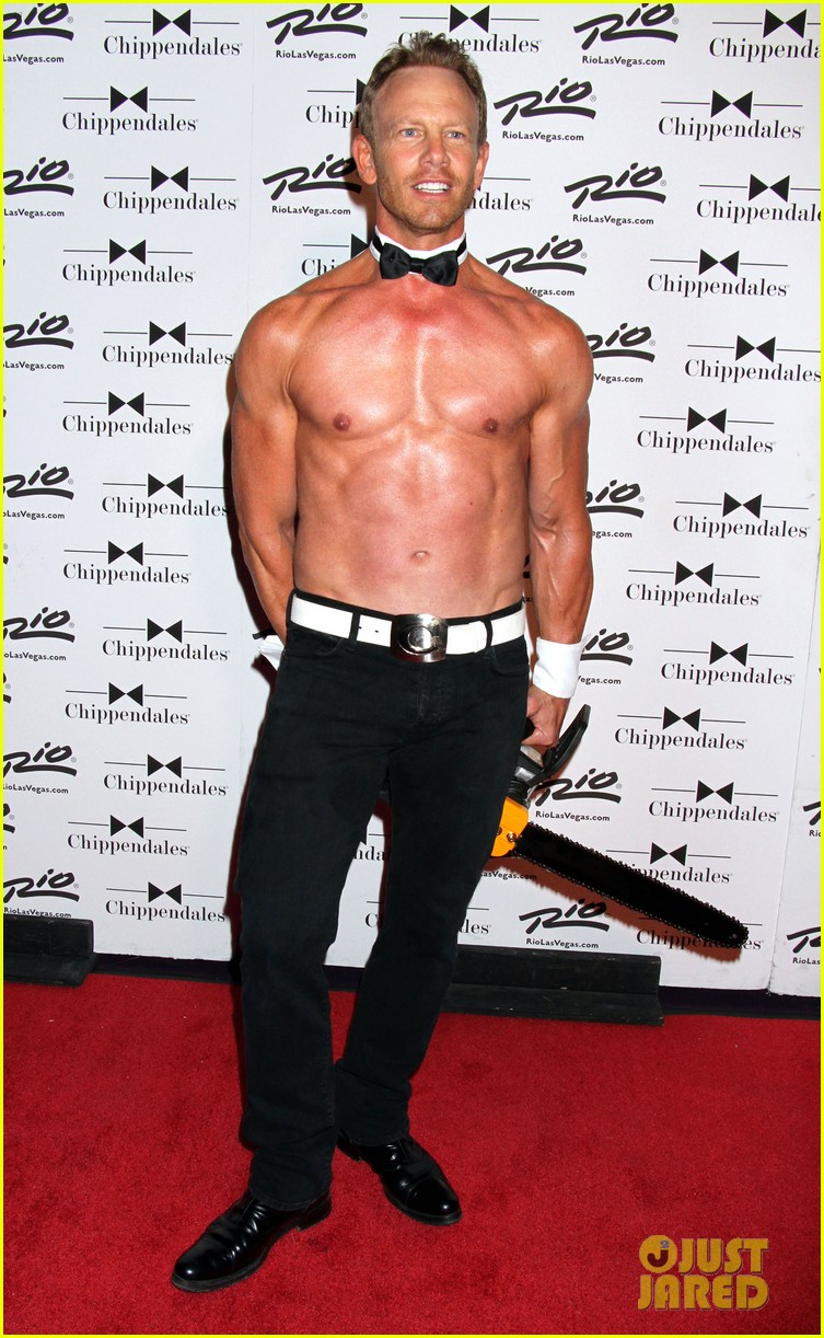 ian ziering shirtless chippendales 183136412