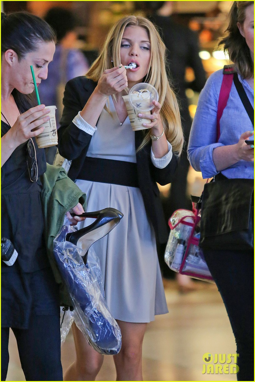 annalynne mccord starbucks run photographs filming 07
