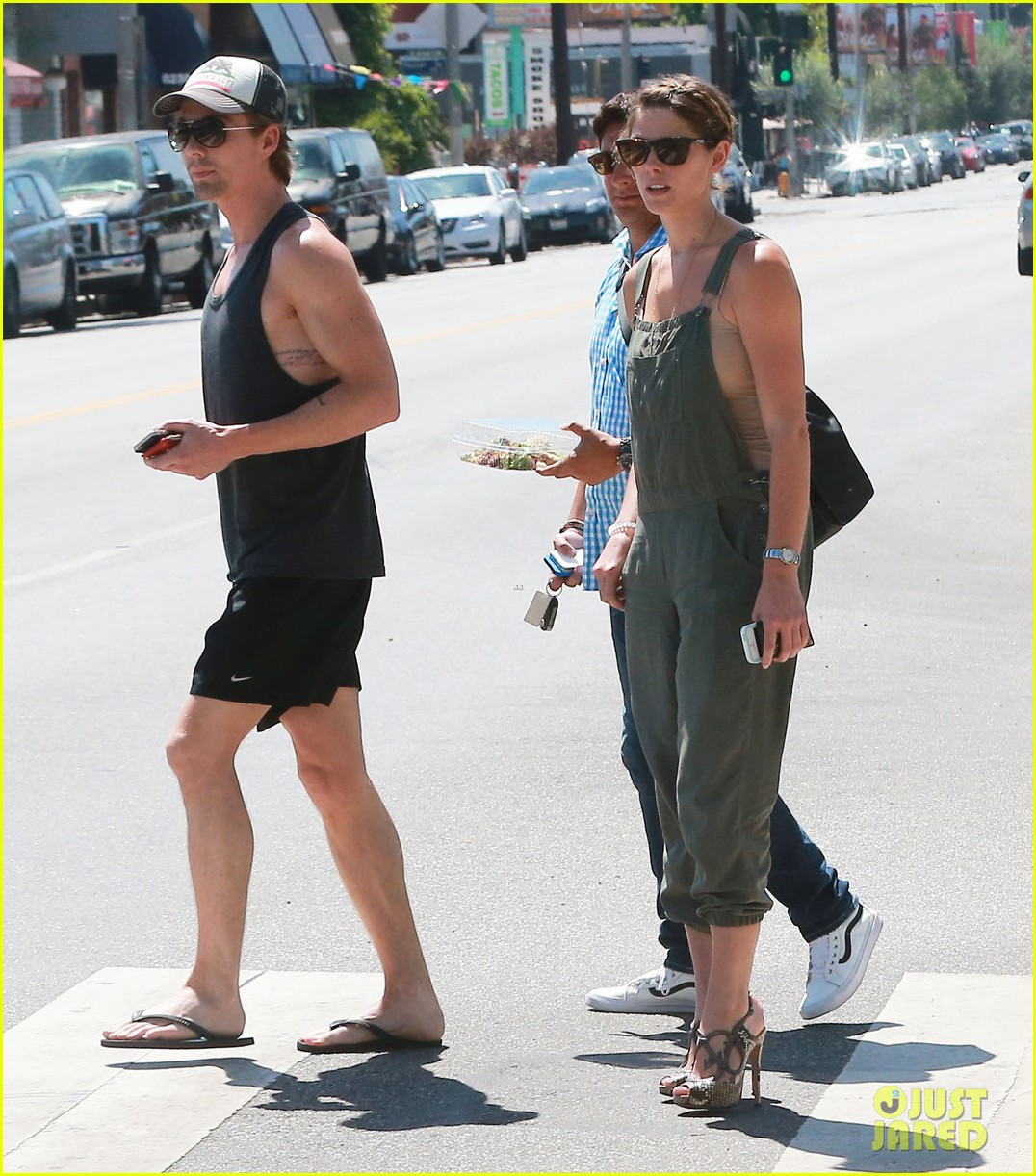 ashley greene wears overalls lunch 05