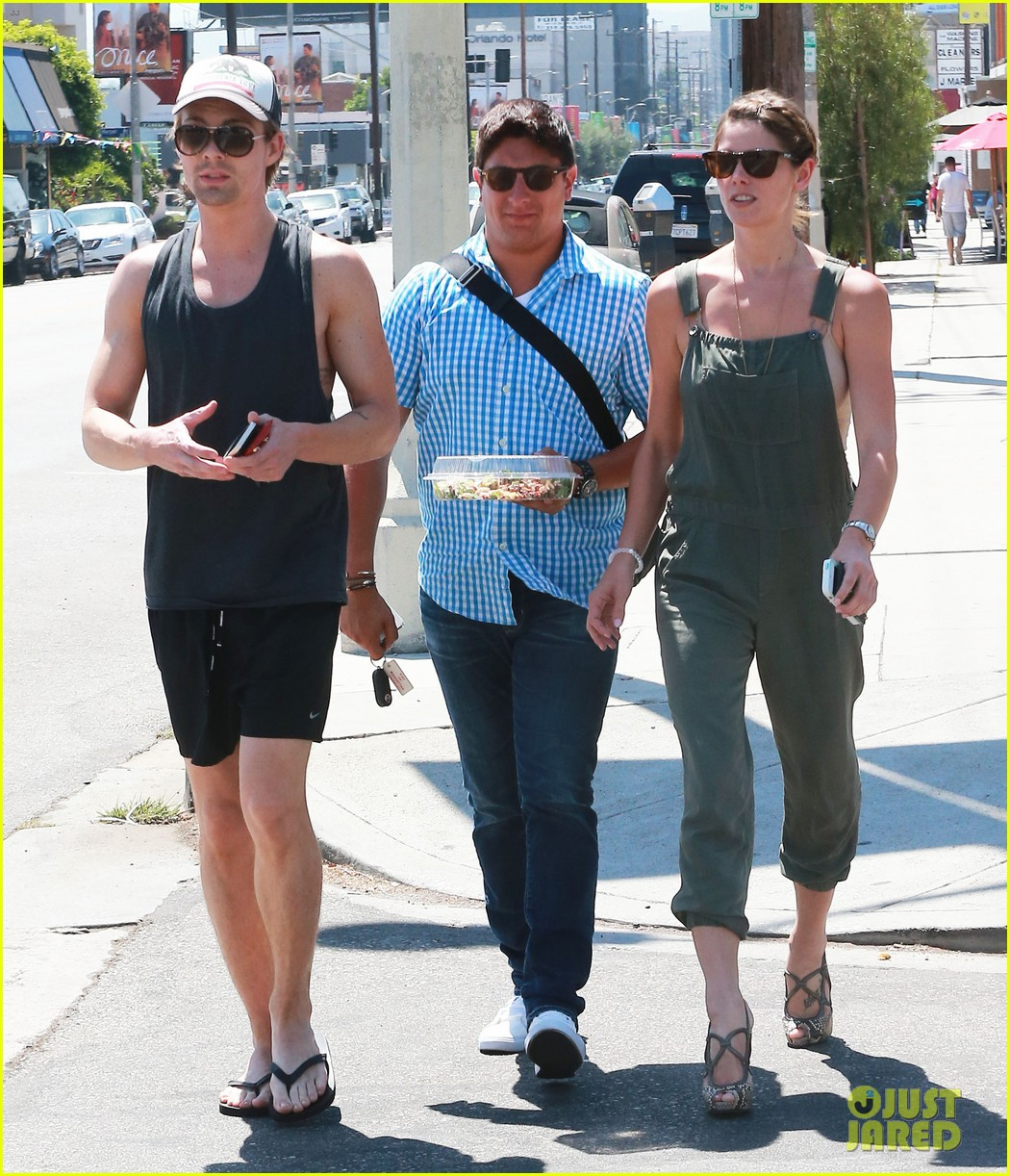 ashley greene wears overalls lunch 10