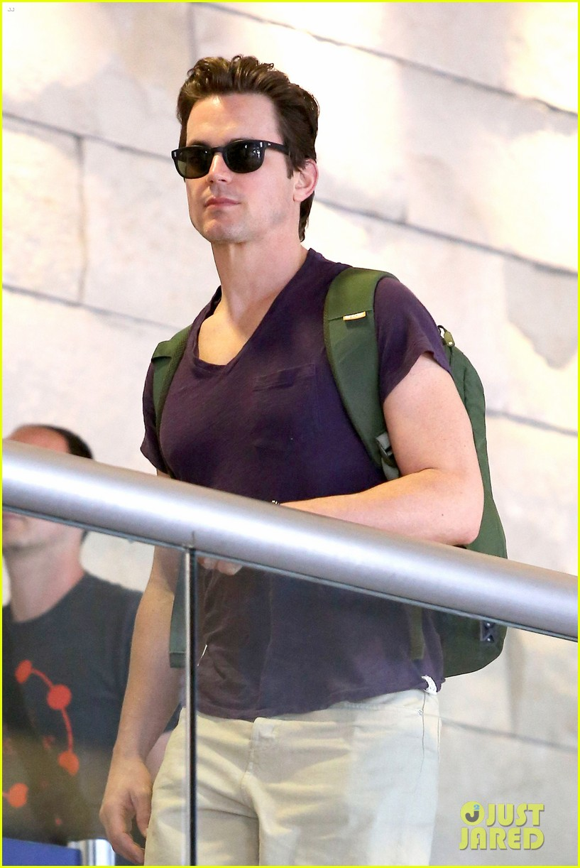 matt bomer wears short shorts at the airport 023150546