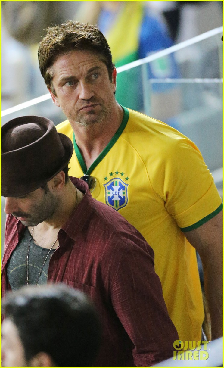 gerard butler taylor kitsch watch brazils massive defeat against germany 033152289