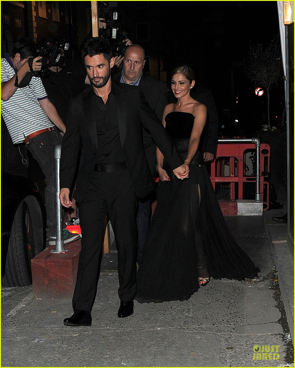 cheryl cole husband jean bernard match in black for wedding party 093161419