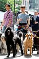 daniel radcliffe dog walker trainwreck nyc set 08