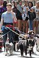 daniel radcliffe dog walker trainwreck nyc set 12