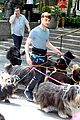 daniel radcliffe dog walker trainwreck nyc set 22