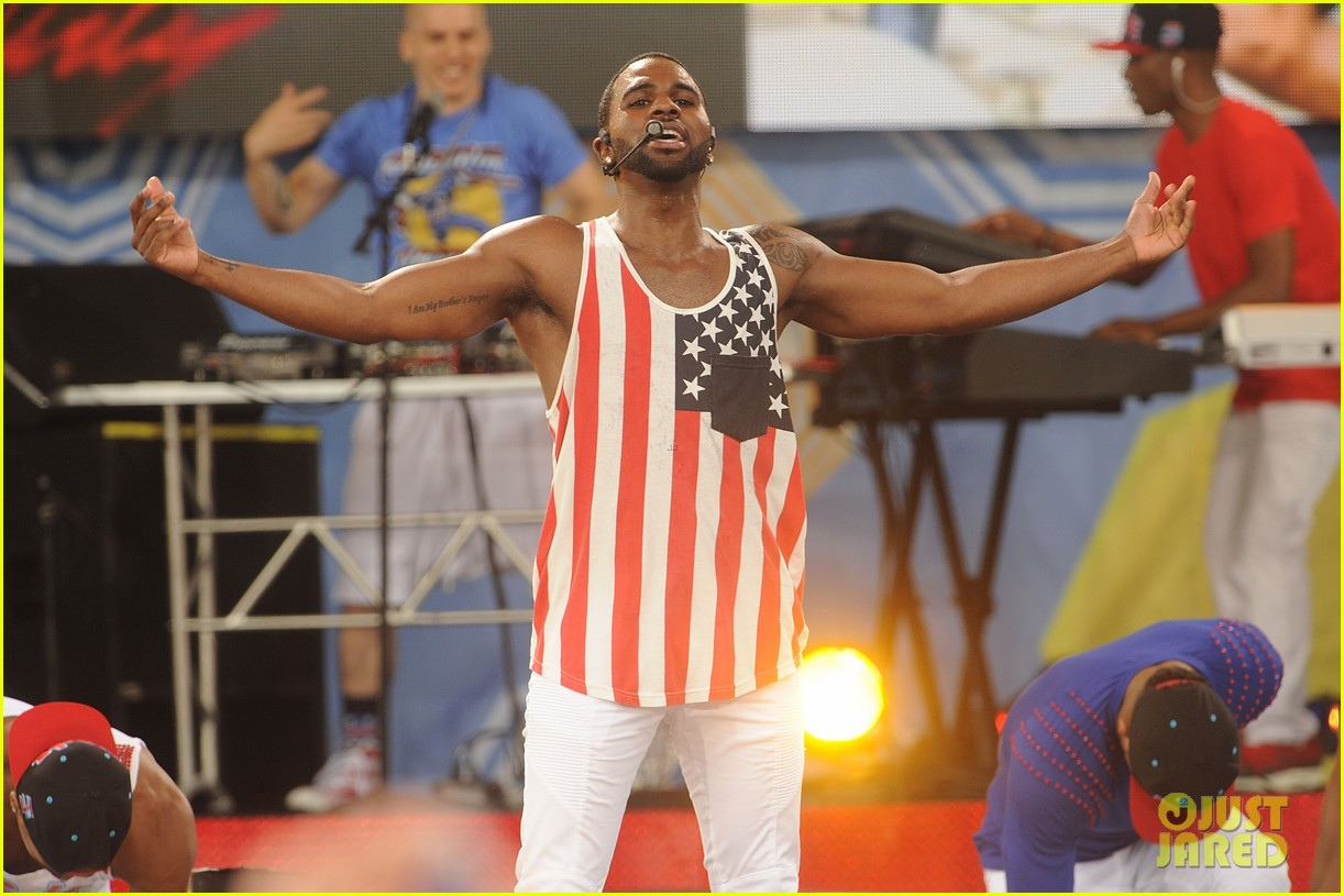 jason derulo shirtless fourth of july gma 21