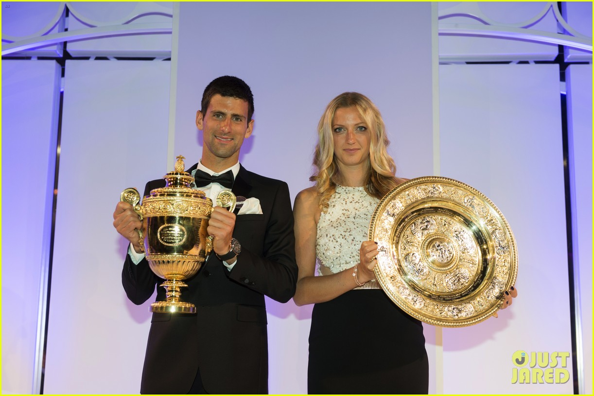 novak djokovic celebrates win at wimbledon championships winners ball 2014 123150870