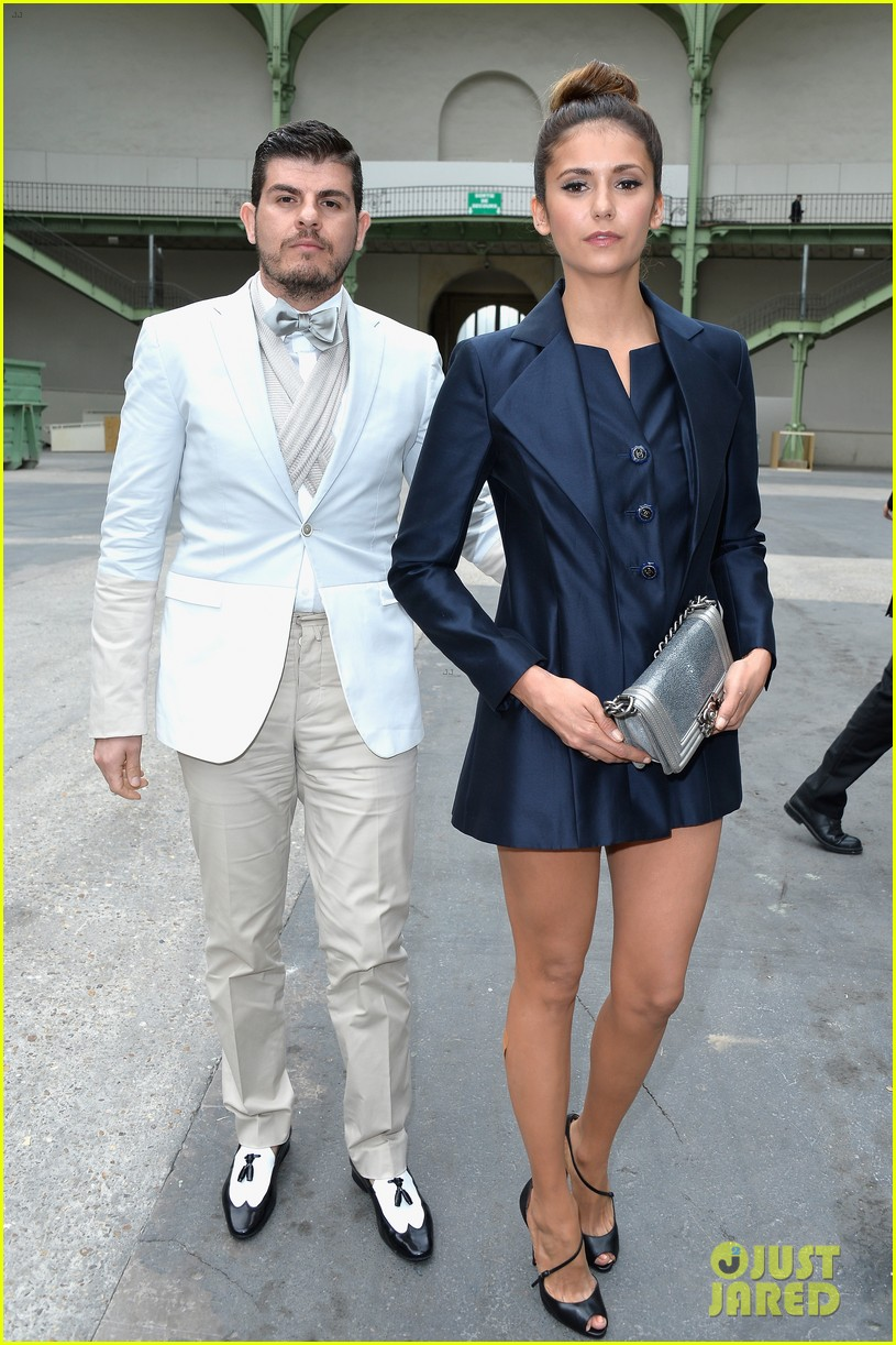 nina dobrev lily collins join jared leto at chanel fashion show 143151595