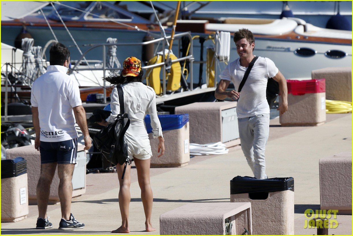 zac efron michelle rodriguez set sail together in porto cervo 05