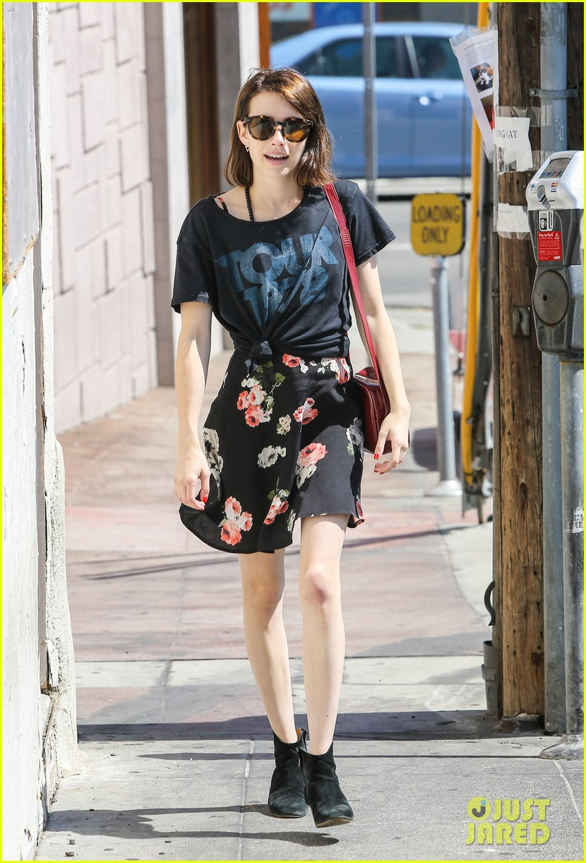 emma roberts takes break ashby filming 123147373