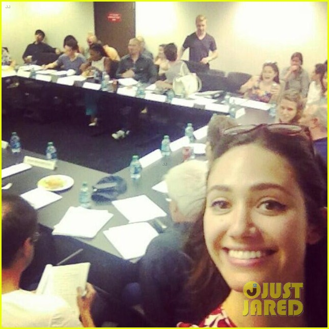 emmy rossum first shameless season 5 table read 023148983