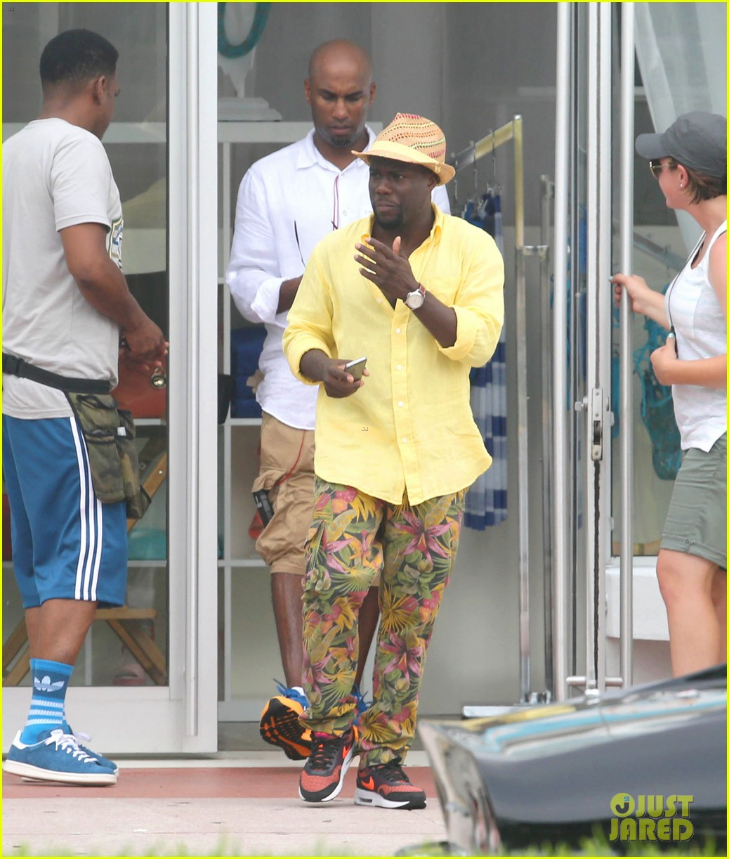 kevin hart begins filming ride along 2 with ice cube in miami 173152184
