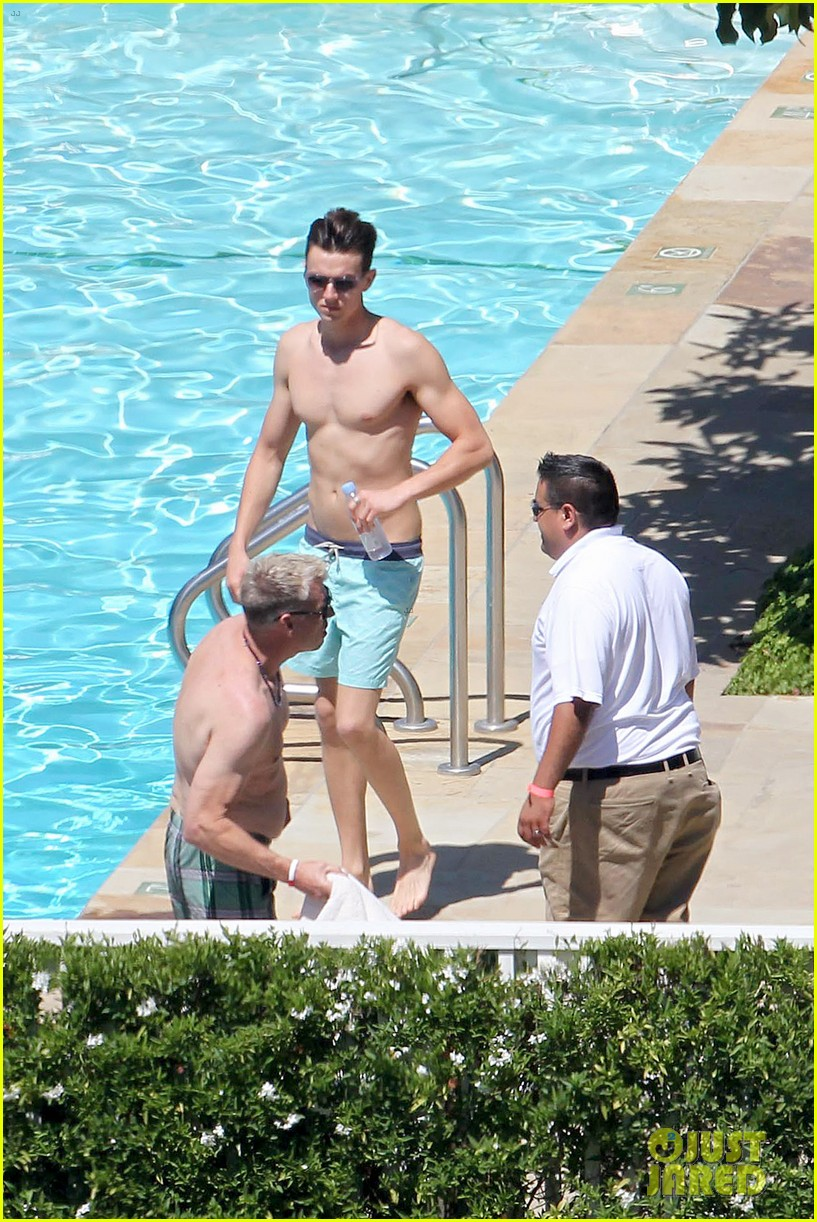 joe simpson hits the pool with a much younger man 11