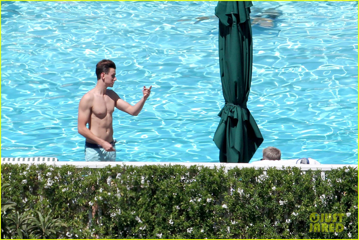 joe simpson hits the pool with a much younger man 26