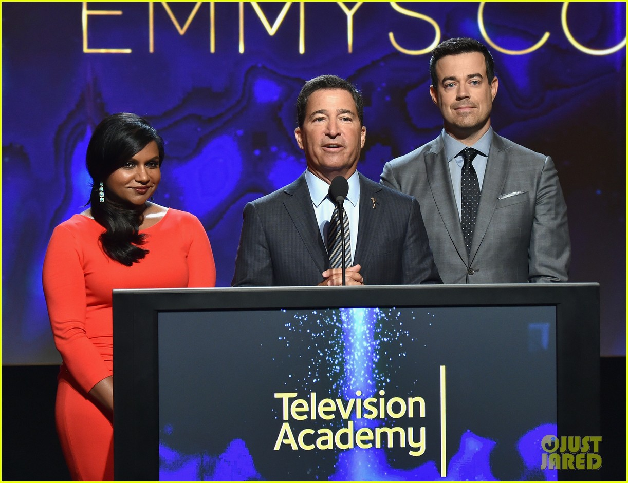 mindy kaling carson daly announce the emmy nominations 2014 05