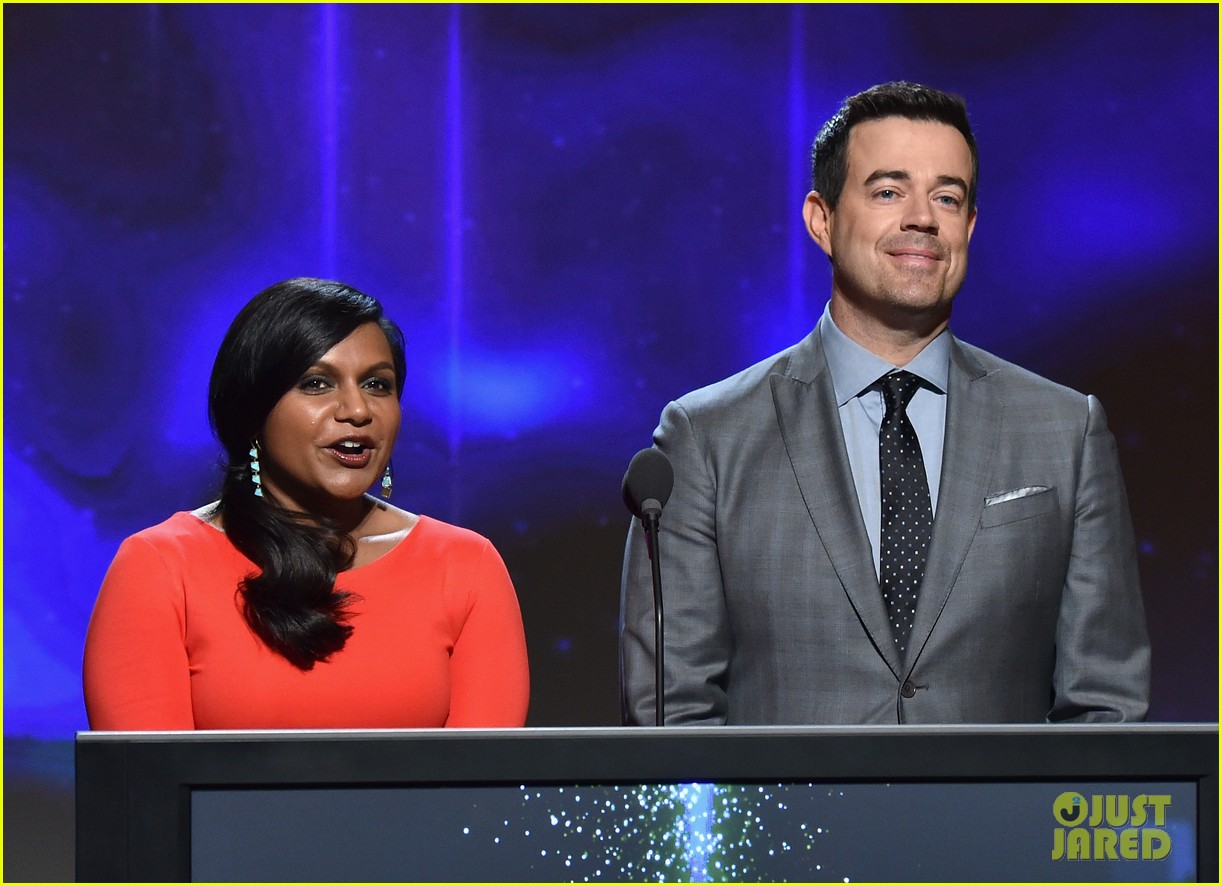 mindy kaling carson daly announce the emmy nominations 2014 08