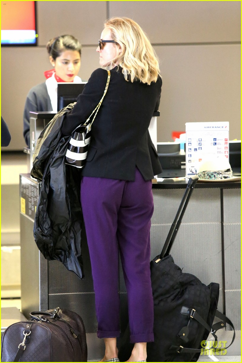 diane kruger wears purple pants at lax airport 13