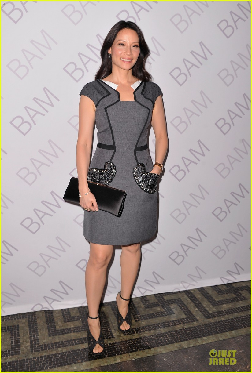 lucy liu shows support for bam education 03