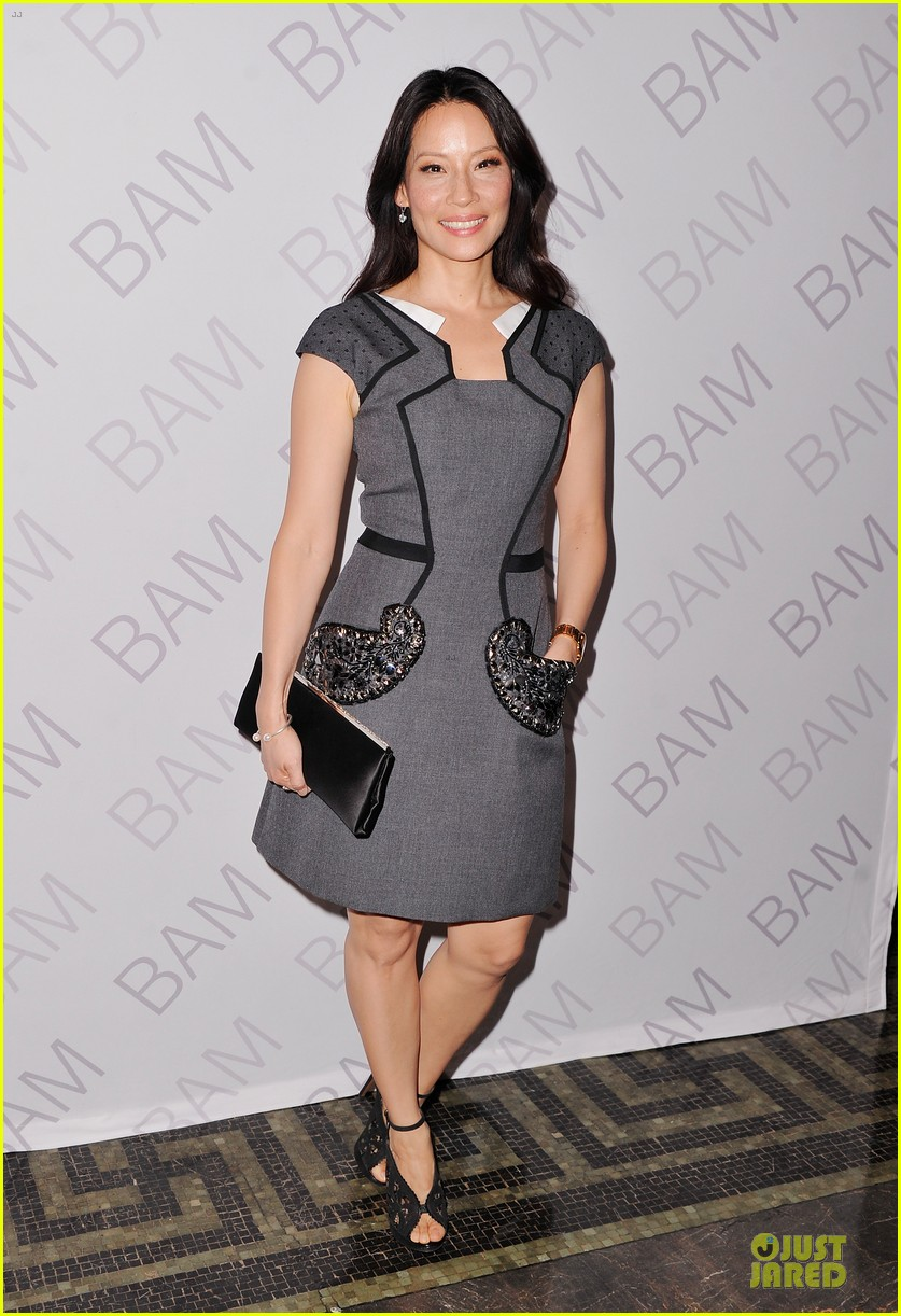 lucy liu shows support for bam education 063147462