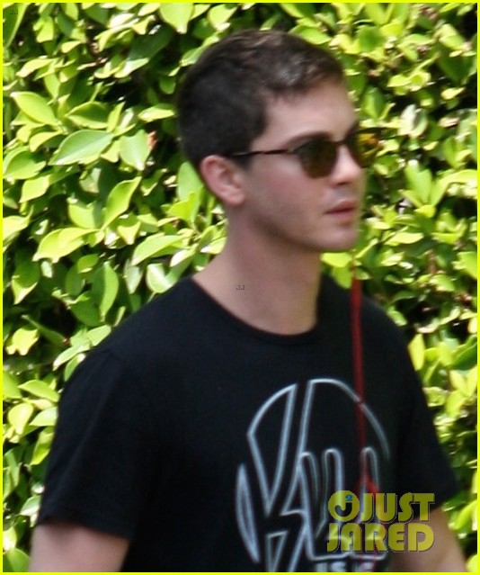 logan lerman rare appearance fury buzz 01