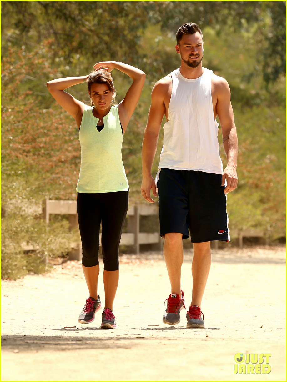 lea michele boyfriend matthew paetz step out together for first time 043148773