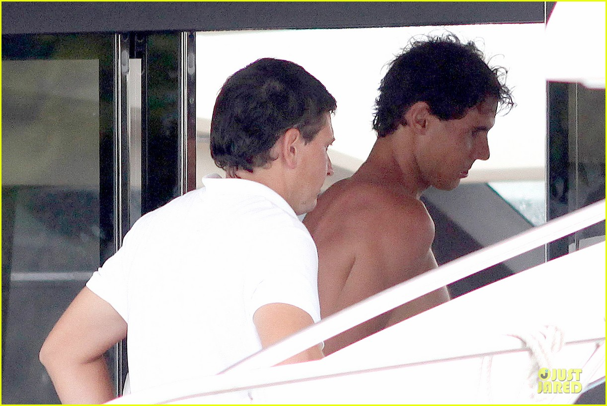 rafael nadal confident shirtless pink during ibiza vacation 24
