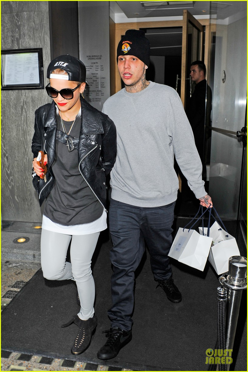 rita ora steps out with mystery man at nobu 053150286