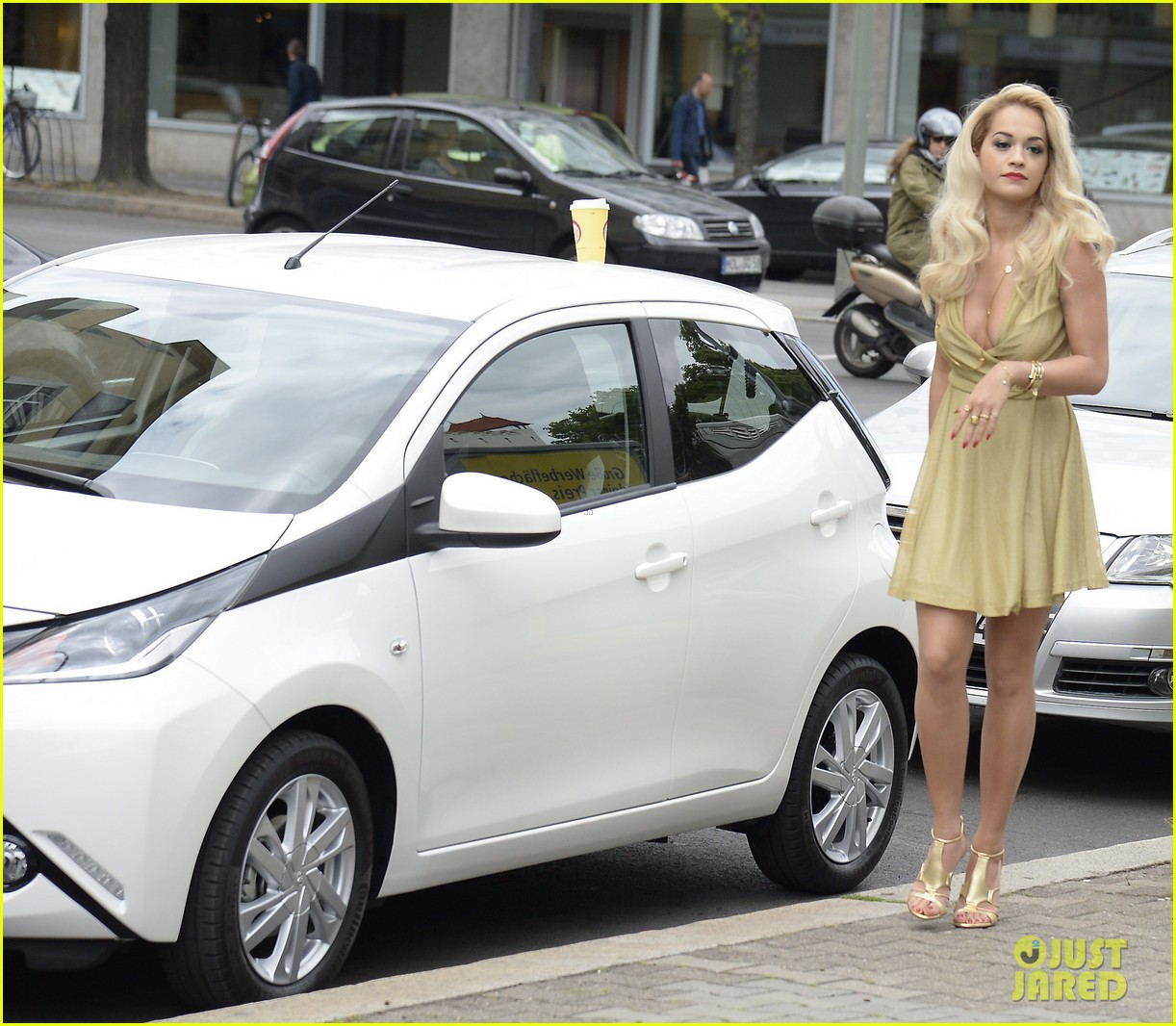 rita ora premieres the new toyota aygo in berlin 023148776