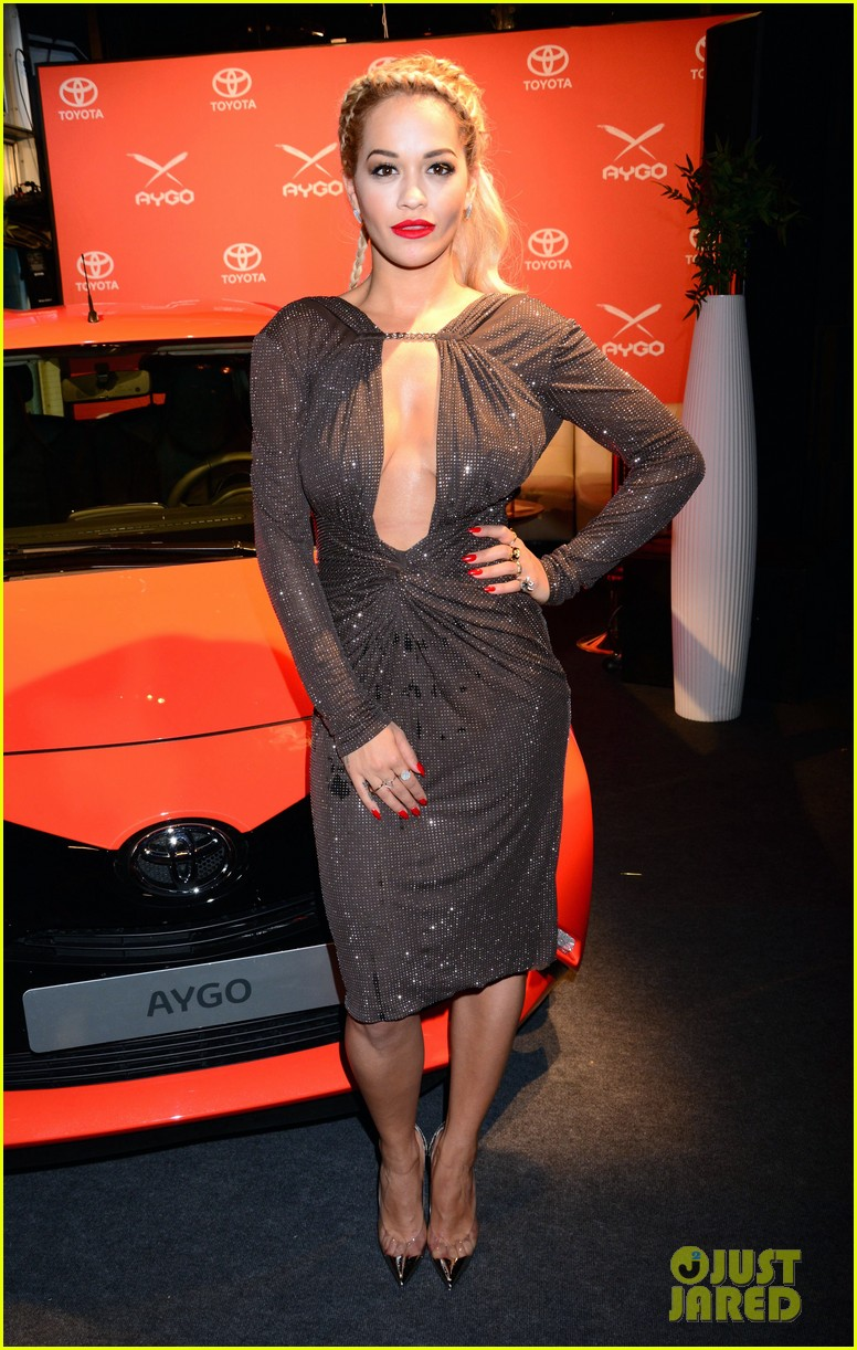 rita ora premieres the new toyota aygo in berlin 053148779