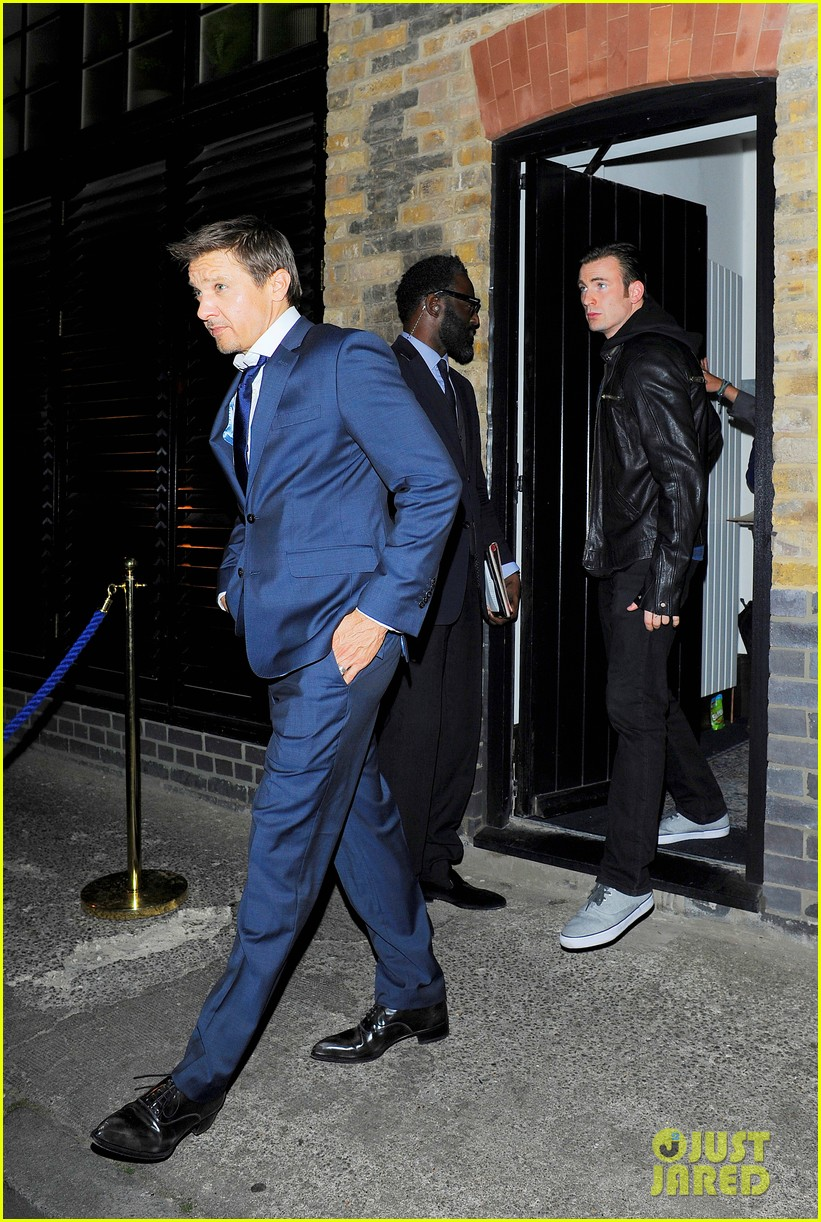avengers unite chris evans jeremy renner hit the town in london 033153470
