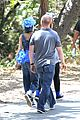 nicole richie rocks blue tutu overalls during hike 06